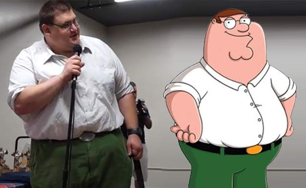 Real Life Peter Griffin Goes To Nycc Amp It Is Just As Awesome As You Think It Is