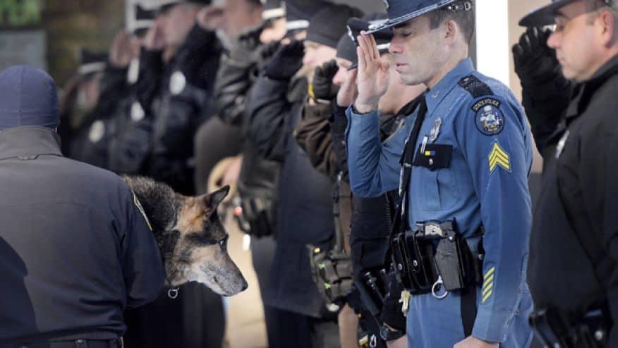 Police Dog Final Escort