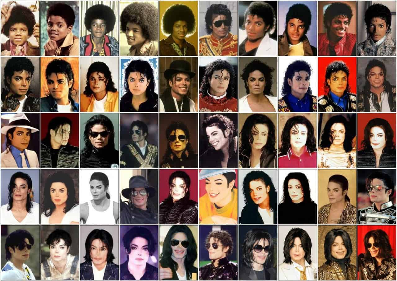 michael jackson faces