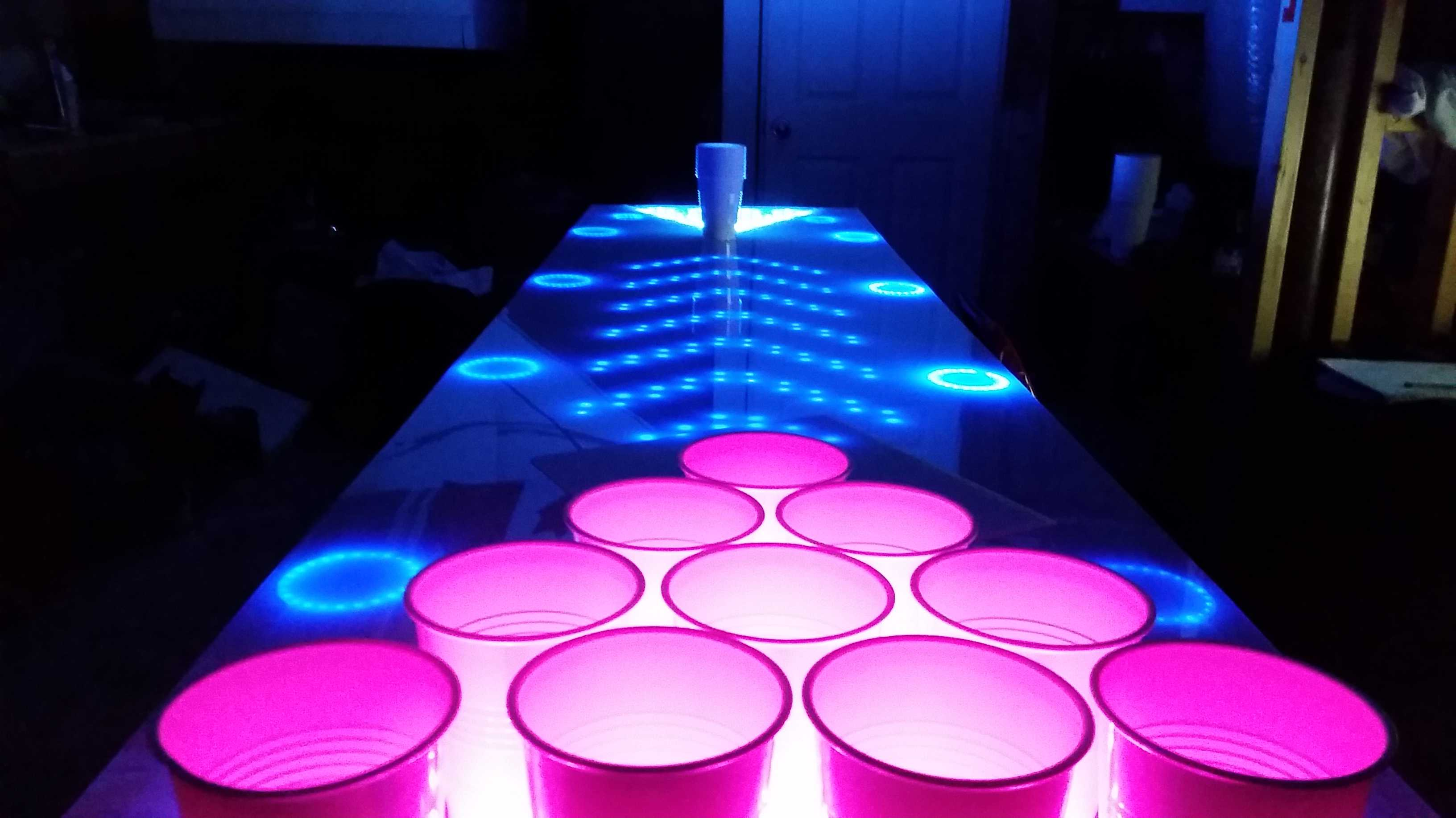 the most interactive amazing beer pong table ever. Black Bedroom Furniture Sets. Home Design Ideas