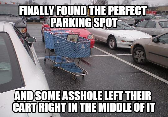 grocery cart parking lot