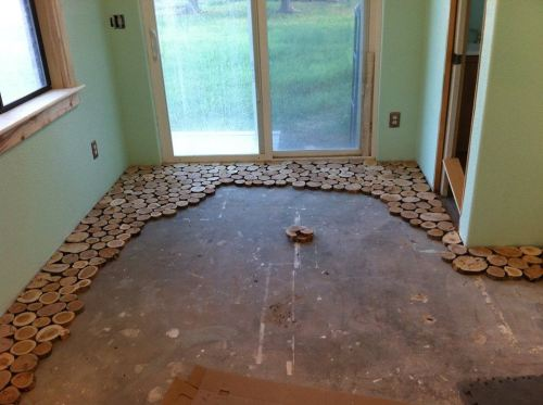Step By Step Process To Making Your Own Cordwood Floor