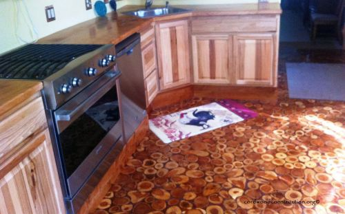 img source : Cordwood Construction - Step By Step Process To Making Your Own Cordwood Floor