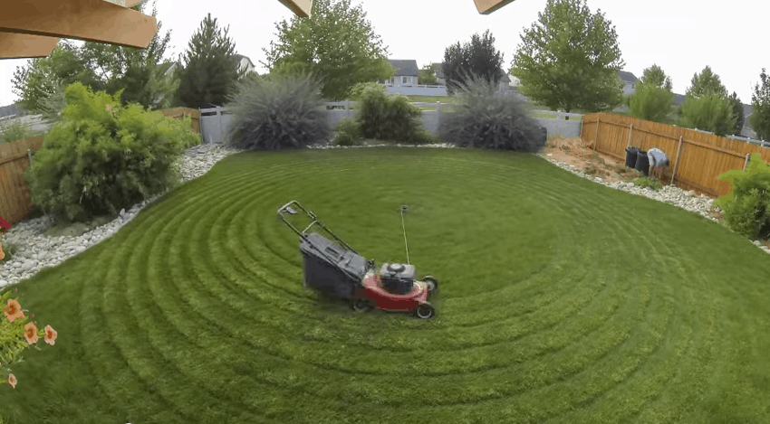 Lawn Mower On A Hill : An awesome self mowing lawn mower