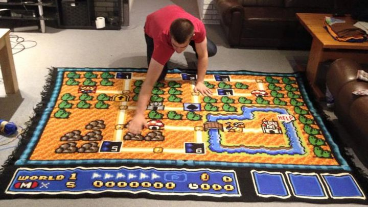 Man spends six years crocheting one super mario bros 3 map gumiabroncs Image collections