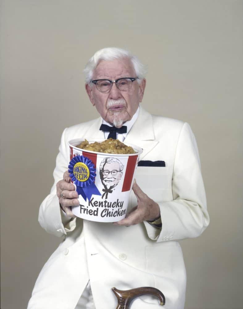 10 unpublished photos of the real colonel sanders. Black Bedroom Furniture Sets. Home Design Ideas