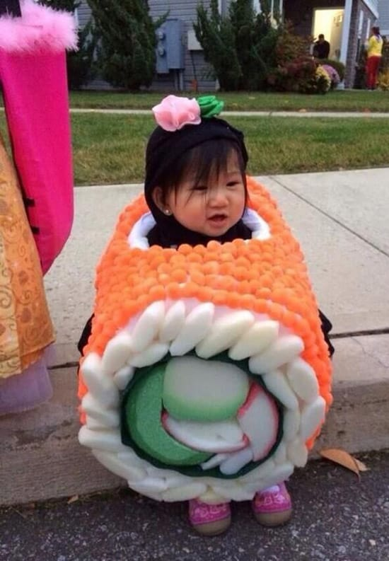 who dresses their kid up like a sushi roll - Childrens Funny Halloween Costumes