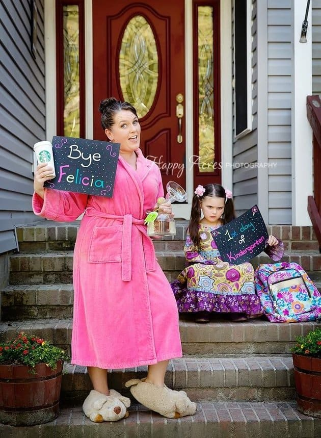 mom first day of school