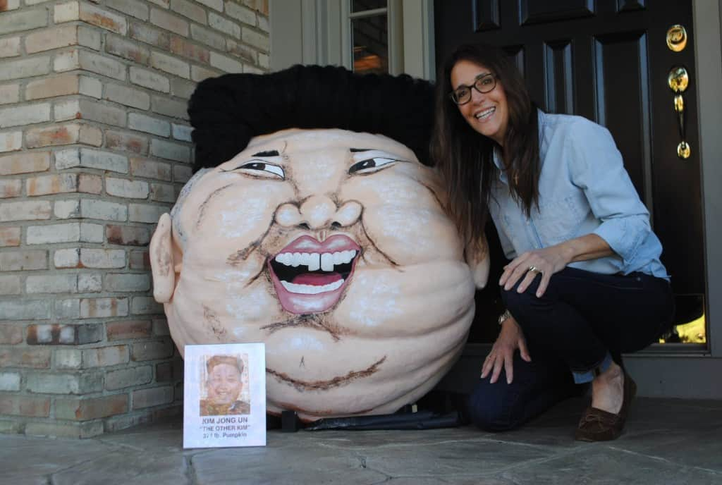 In 2014, Paras turned a 384-pound pumpkin into a likeness of North Korean leader Kim Jong Un.