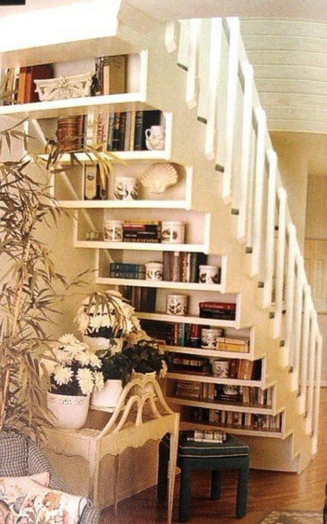 furniture-amazing-shelves-under-stair-with-cool-green-coffee-table-design-above1