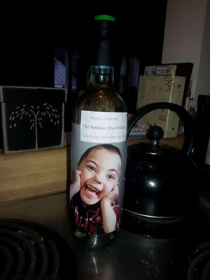 wine bottle kid teacher