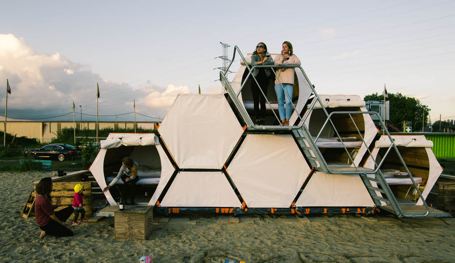 This Stackable Honeycomb Hotel Will Forever Change How You Camp With Friends Awesomejelly Com
