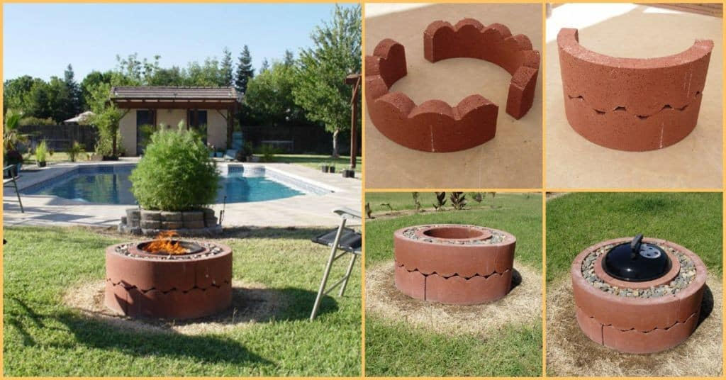 This guy built the coolest 39 portable 39 fire pit with built for Easy diy fire pit with grill