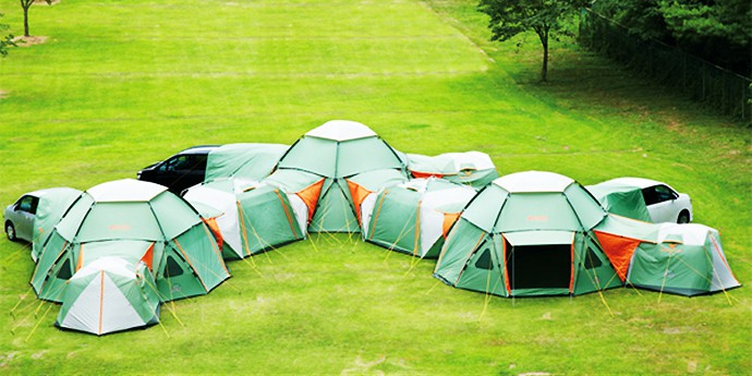 massive tent & Awesome 16-Person Tent With Dining Area u0026 Car Port Will Change The ...