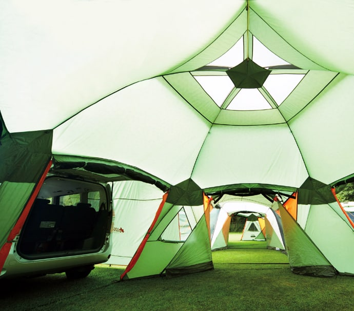 These things are incredible! Talk about a whole new level of c&ing. The beauty of this design is that it can be used for just a quick solo weekend c&ing ... & Awesome 16-Person Tent With Dining Area u0026 Car Port Will Change The ...