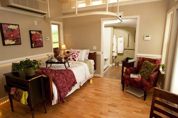 med cottage bedroom