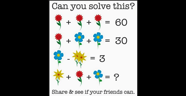 Here Is The Answer To The Flower Math Problem That Is