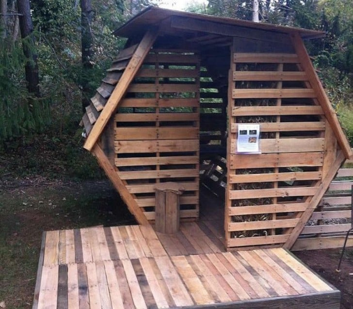 20 diy pallet shelter designs that will have you living for Wood pallet gazebo