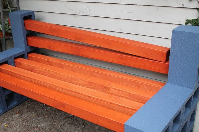 Diy painted patio furniture - How To Make A Simple Inexpensive Outdoor Bench