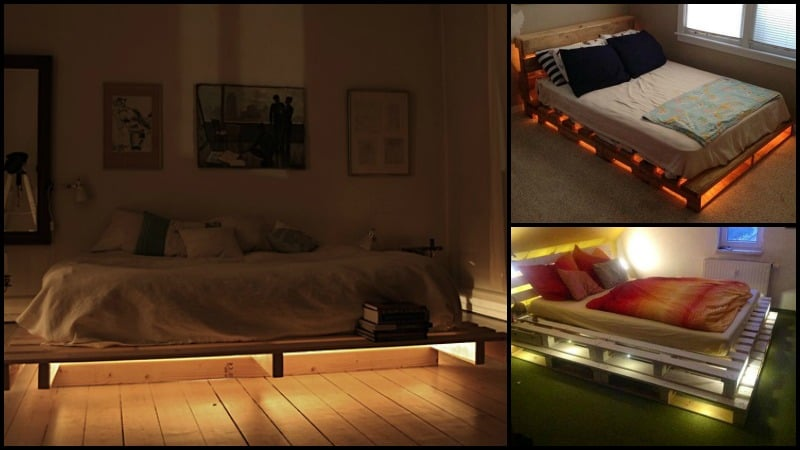 Making This Illuminated Pallet Bed Is As Easy As 1-2-3! AwesomeJelly.com