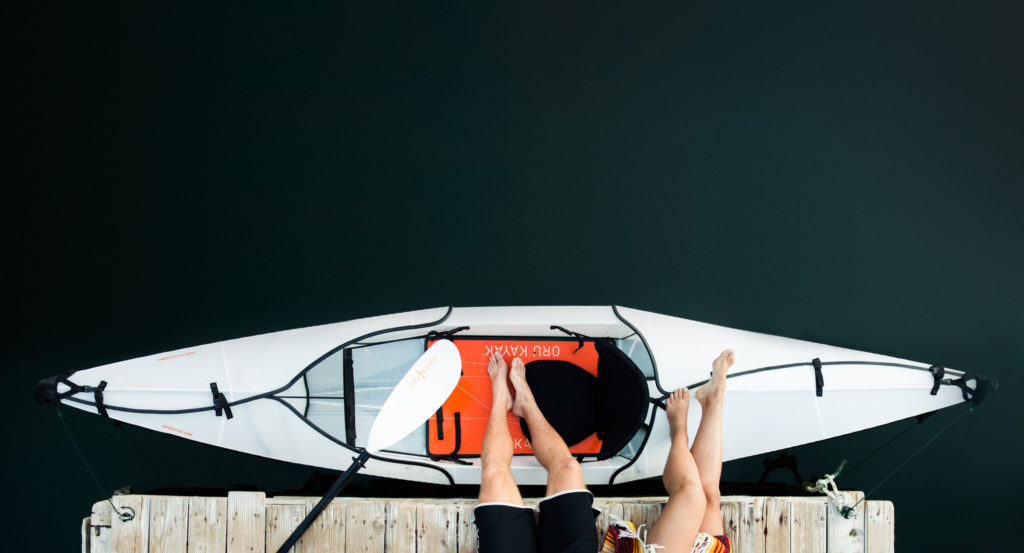 this 26pound origamiinspired kayak fits in a small box