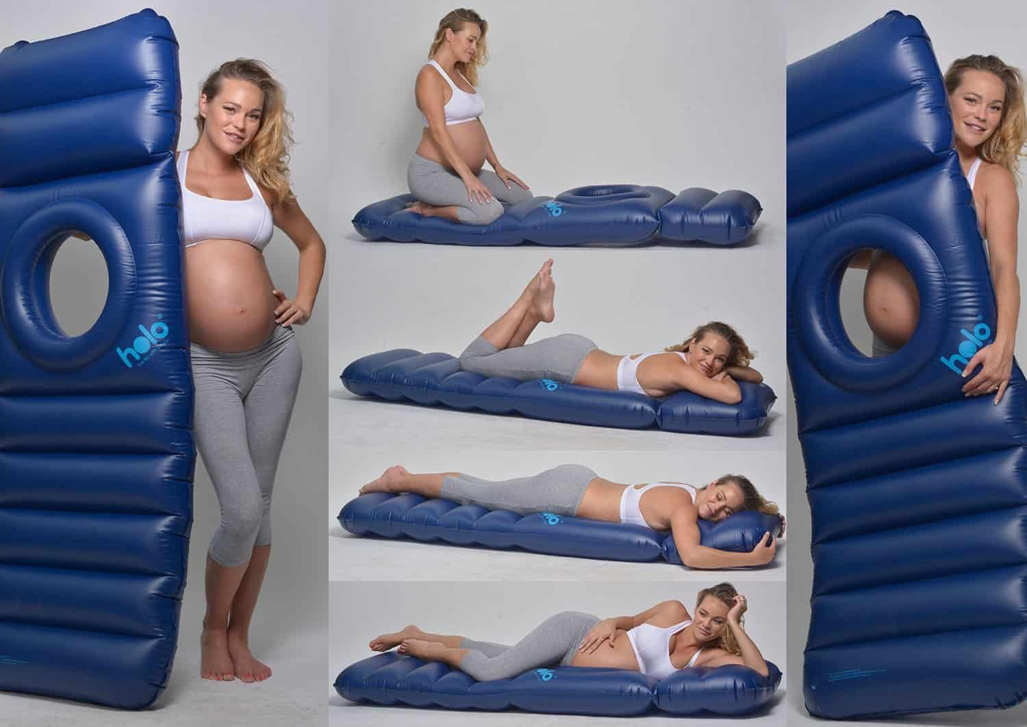 This Inflatable Maternity Pillow Raft Bed Will Totally