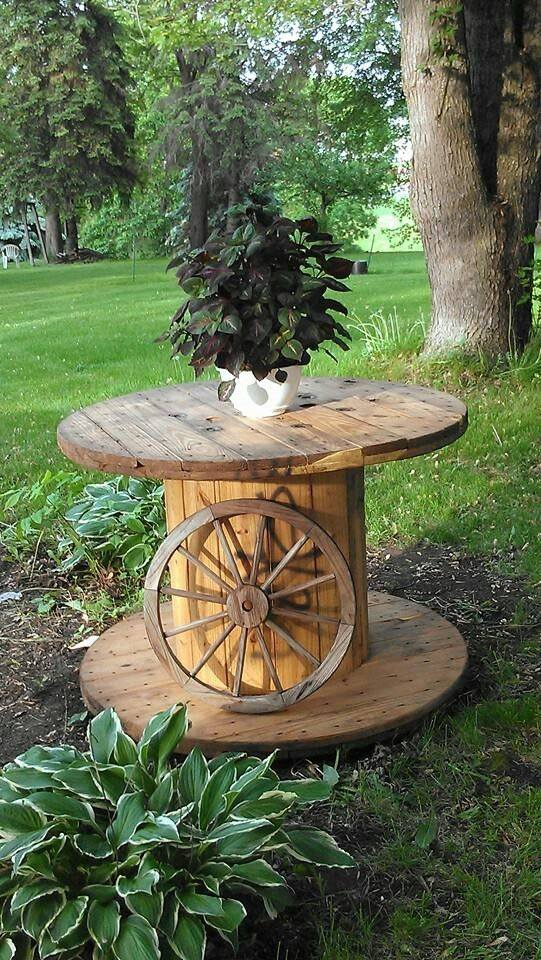 Stunning large wire spools gallery electrical and wiring for Large wooden spools used for tables