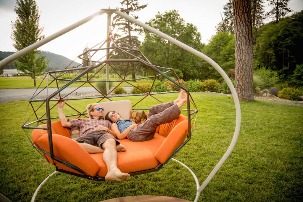 This 39 swinging pod 39 is going to totally change how you do for Outdoor hanging bed swing