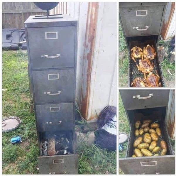 Here Is How To Turn An Old File Cabinet Into An Awesome Outdoor Smoker! U2022  AwesomeJelly.com