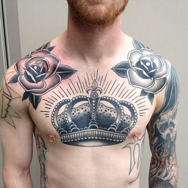 51 Super Awesome Chest Tattoo Ideas For Men • AwesomeJelly.com