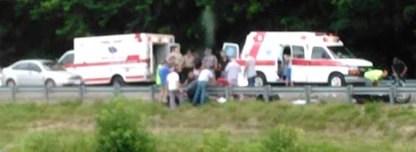 People Believe This Photo From A Car Crash Shows A Man's Spirit Leaving His Body