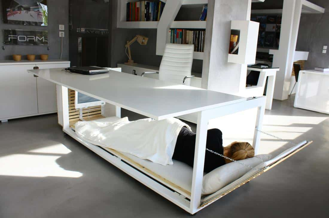 This Desk Converts Into A Bed So You Can Take Nap At Work Awesomejelly Com