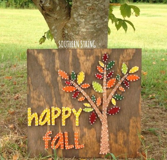 16 Awesome String Art Ideas For Fall And Halloween Season
