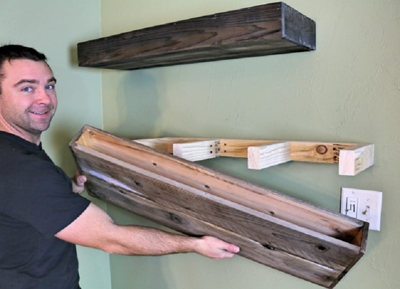 These good looking diy floating shelves are super easy and for Diy suspended shelves