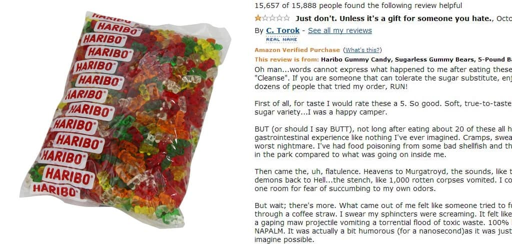 Sugarless Haribo Gummy Bear Reviews On Amazon Are The