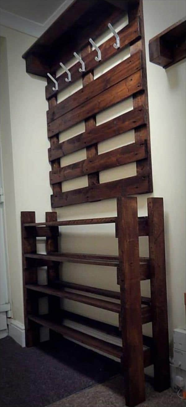 pallet-rack4 & A Hallway Pallet Coat Rack And Shoe Rack That Is Both Good Looking ...