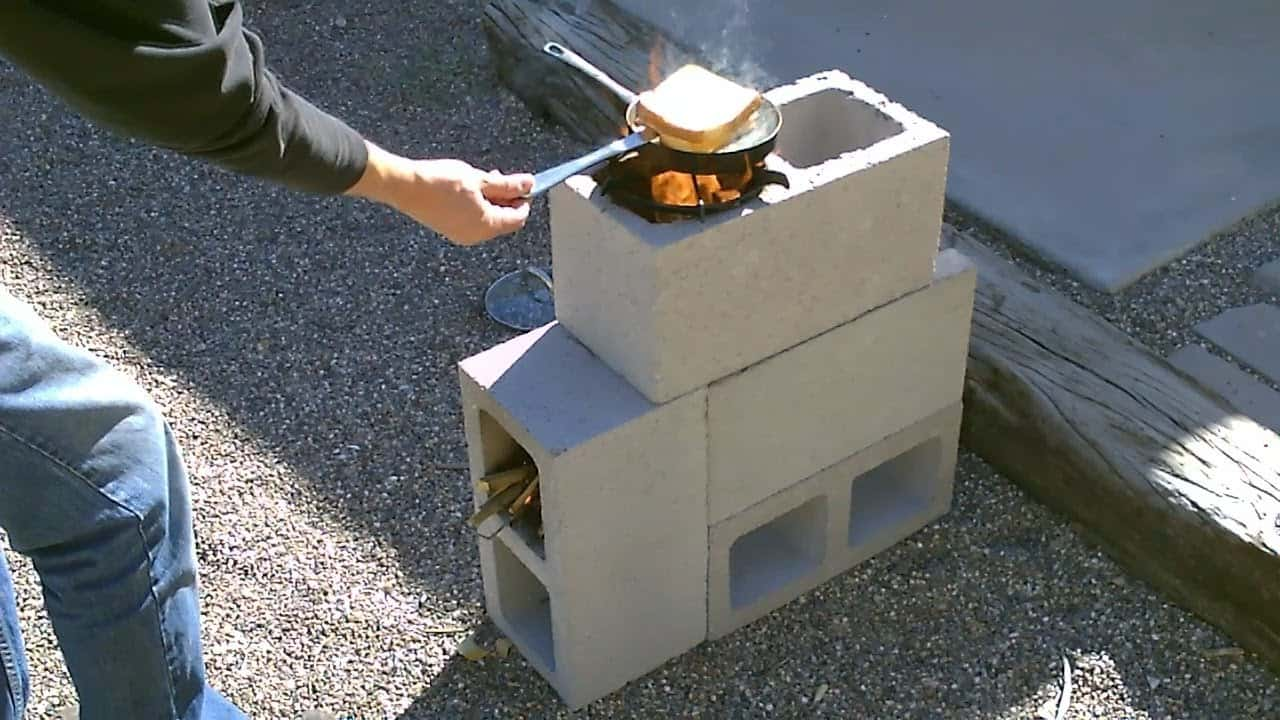 how to build a 39 four block 39 rocket stove for just 8