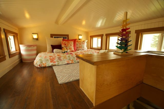 Stunning 200 square foot tiny house on wheels fit for a for 200 square feet living room design
