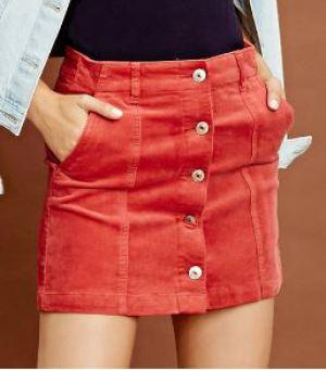 corduroy-skirt-red