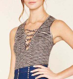 dark-gray-tank-top-lace-up