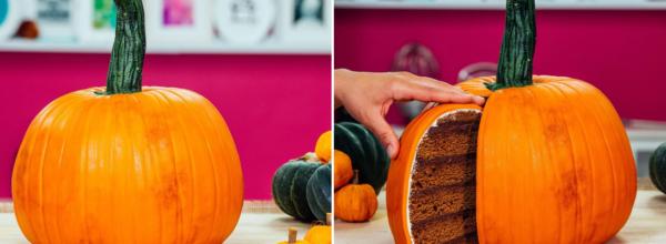 How To Make A Pumpkin Shaped Pumpkin Spice Cake!