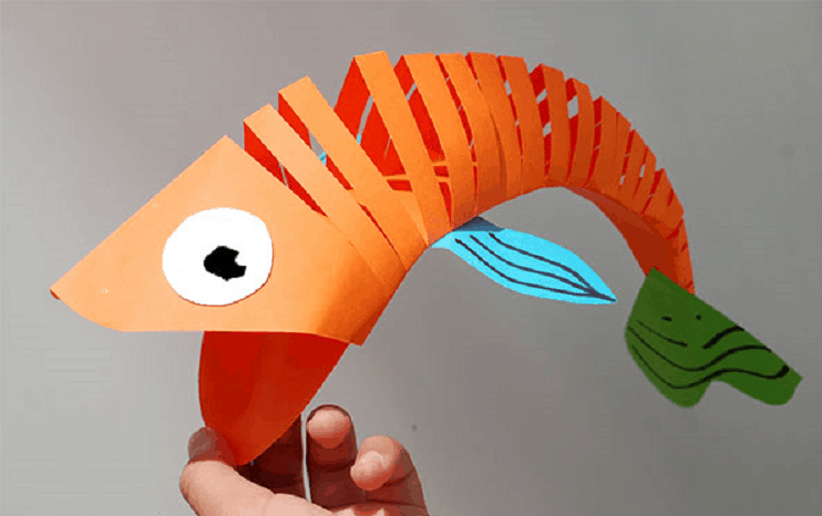 How To Make A Super Cool Moving Fish Out Of Paper O AwesomeJelly