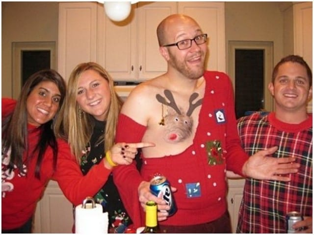 Tacky Christmas Sweater Party Ideas Part - 26: The U0027Ou0027 Naturalu0027 Sweater! Ugly-sweater6