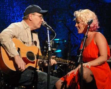 James T Moore, Pink's father and Pink **Exclusive Coverage** (Photo by KMazur/WireImage for Jive Records)