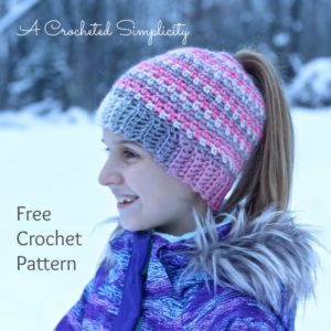 Make your own awesome ponytail hat with these free crochet jennifer pionk from a crocheted simplicity whipped up this free crocheted ponytail hat pattern you can get the pattern on her website here dt1010fo