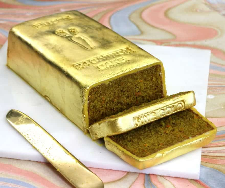 how gold it make looking expensive cake to carrot a bar super