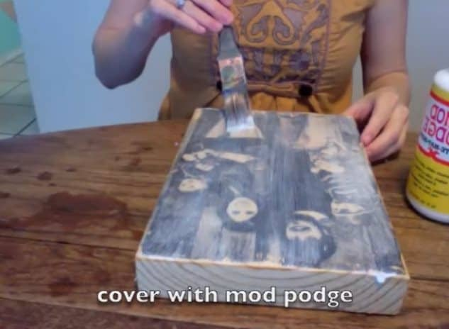 how to transfer any picture onto a block of wood in just a few easy steps. Black Bedroom Furniture Sets. Home Design Ideas