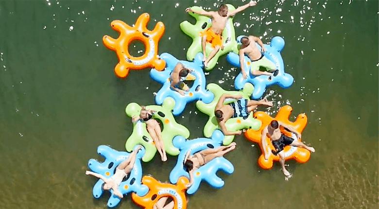 fluzzle tube pool float