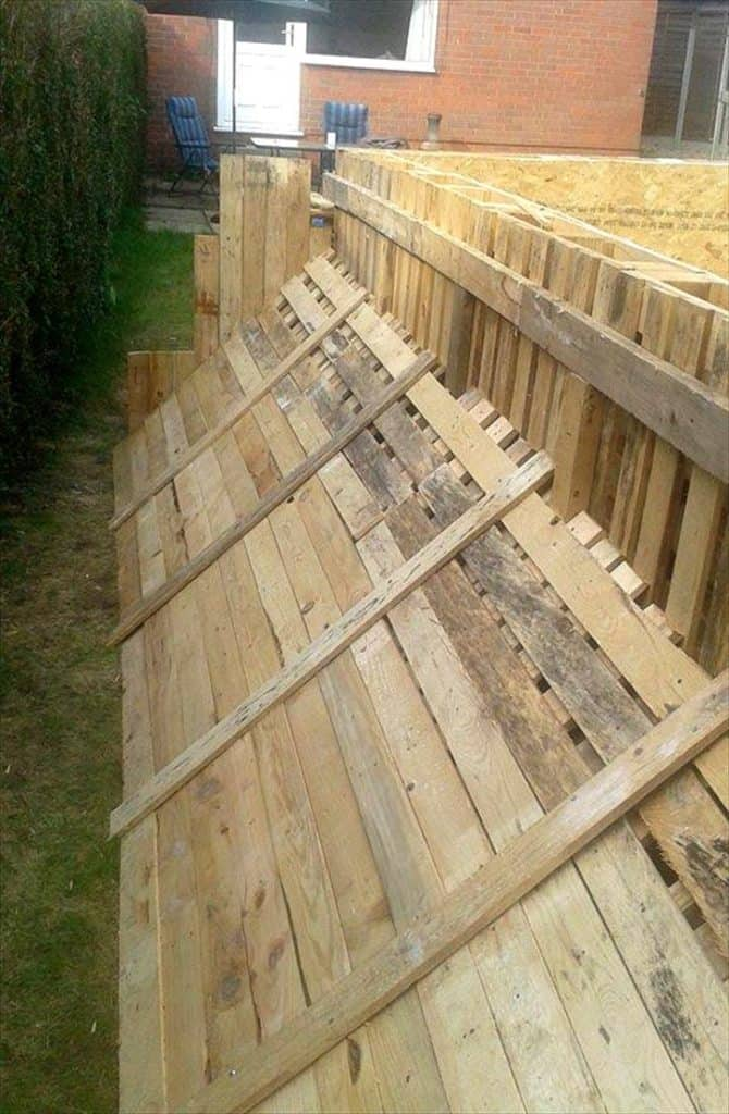 How to build the coolest looking 39 pallet swimming pool - How to build a swimming pool out of wood ...