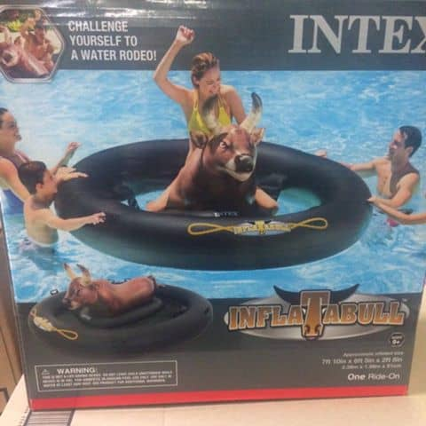 inflatable bull pool float
